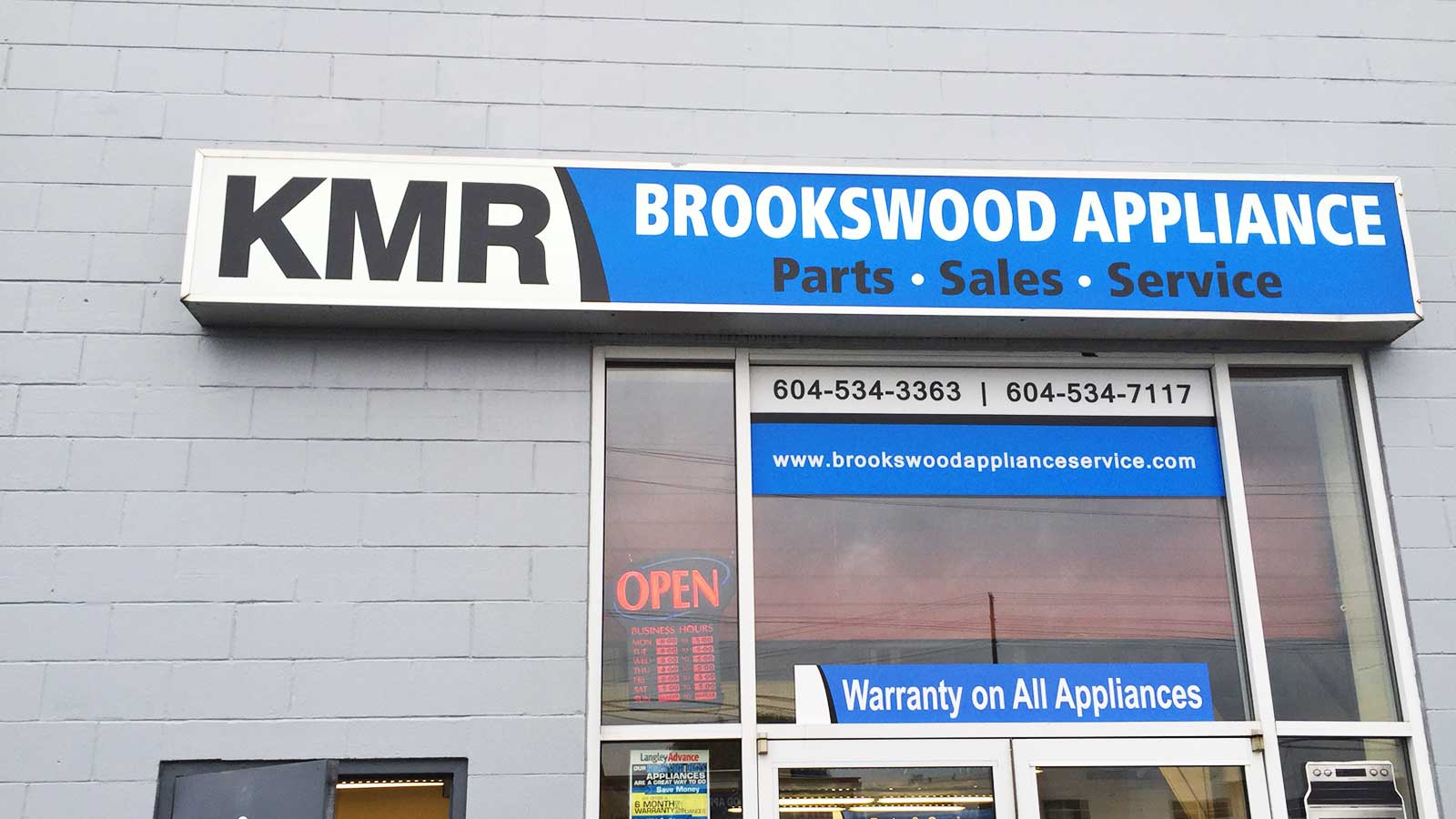 About KMR Brookswood Appliance